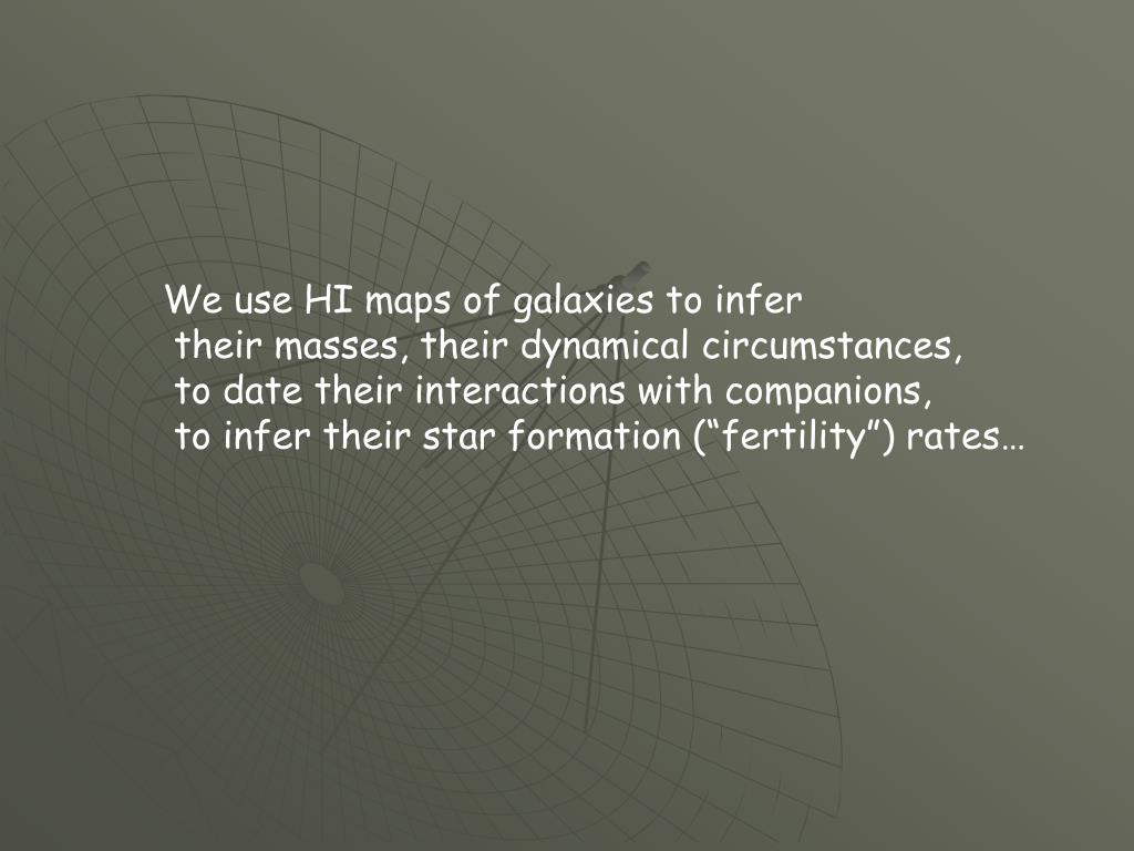 We use HI maps of galaxies to infer