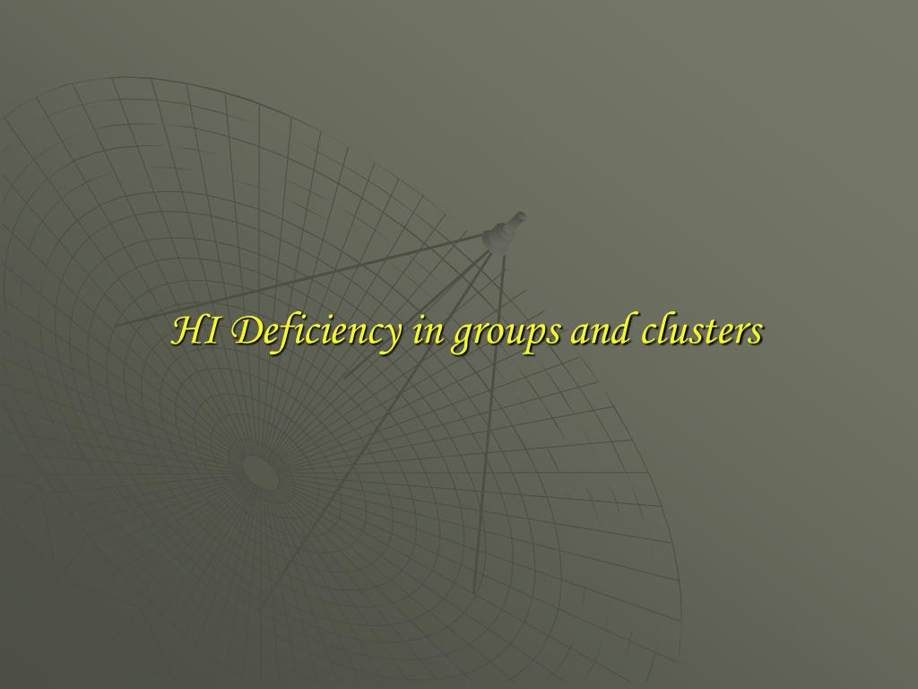 HI Deficiency in groups and clusters