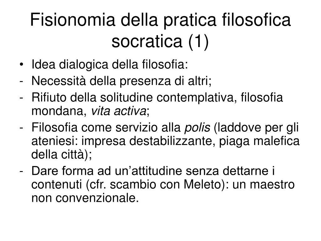 Fisionomia della pratica filosofica socratica (1)