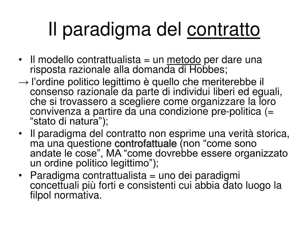 Il paradigma del