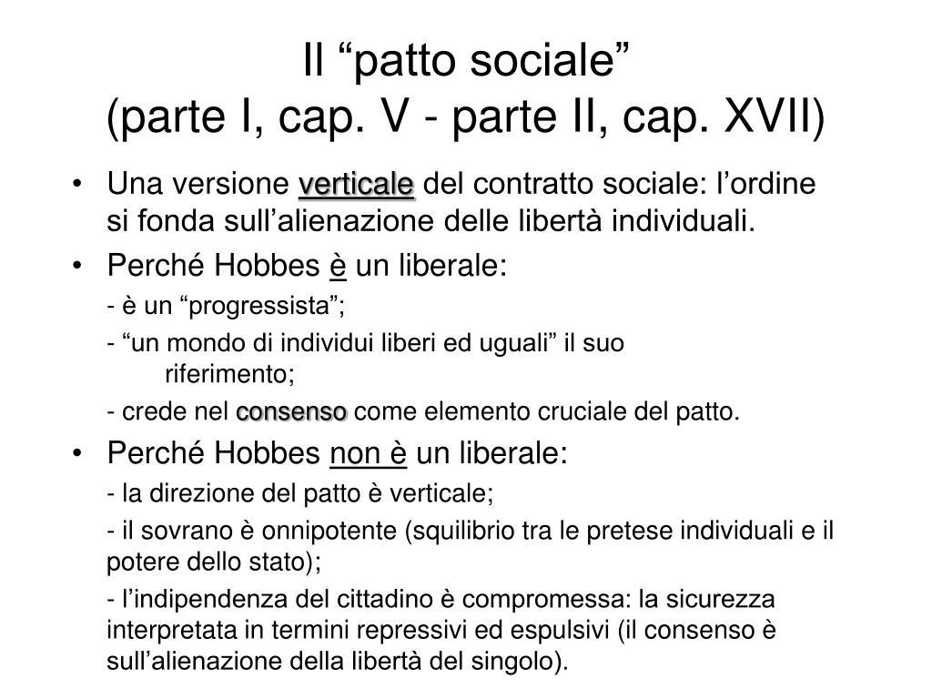 """Il """"patto sociale"""""""