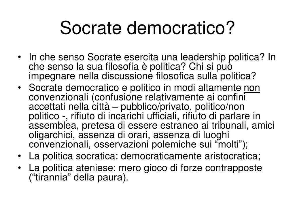 Socrate democratico?
