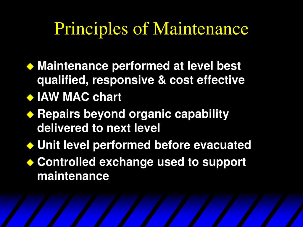Principles of Maintenance