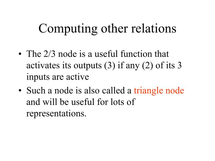 Computing other relations