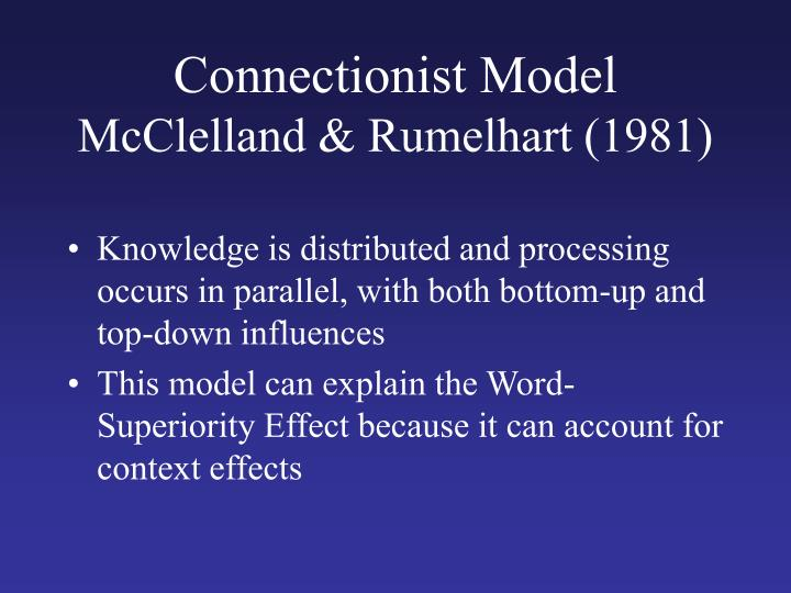 Connectionist Model