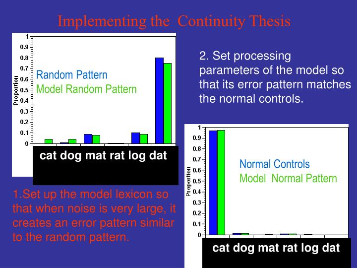 Implementing the  Continuity Thesis