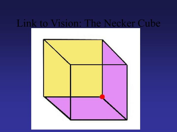 Link to Vision: The Necker Cube