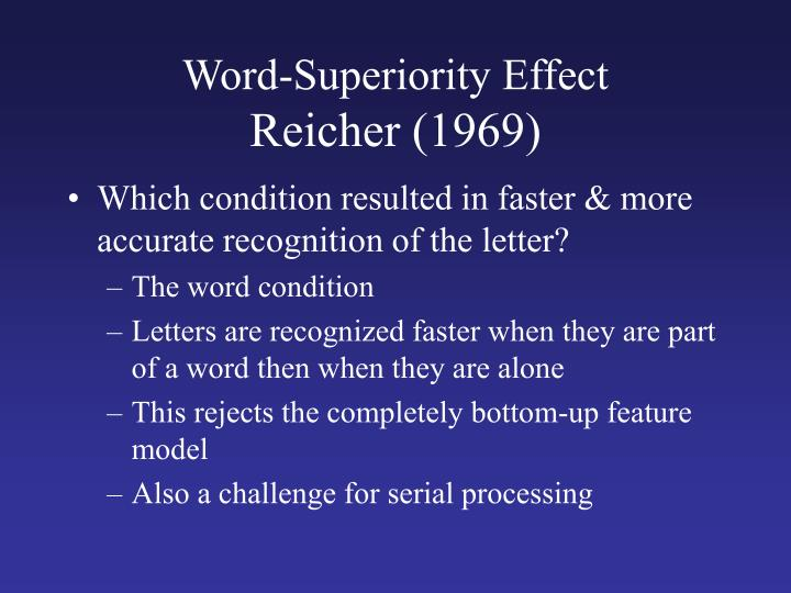 Word-Superiority Effect