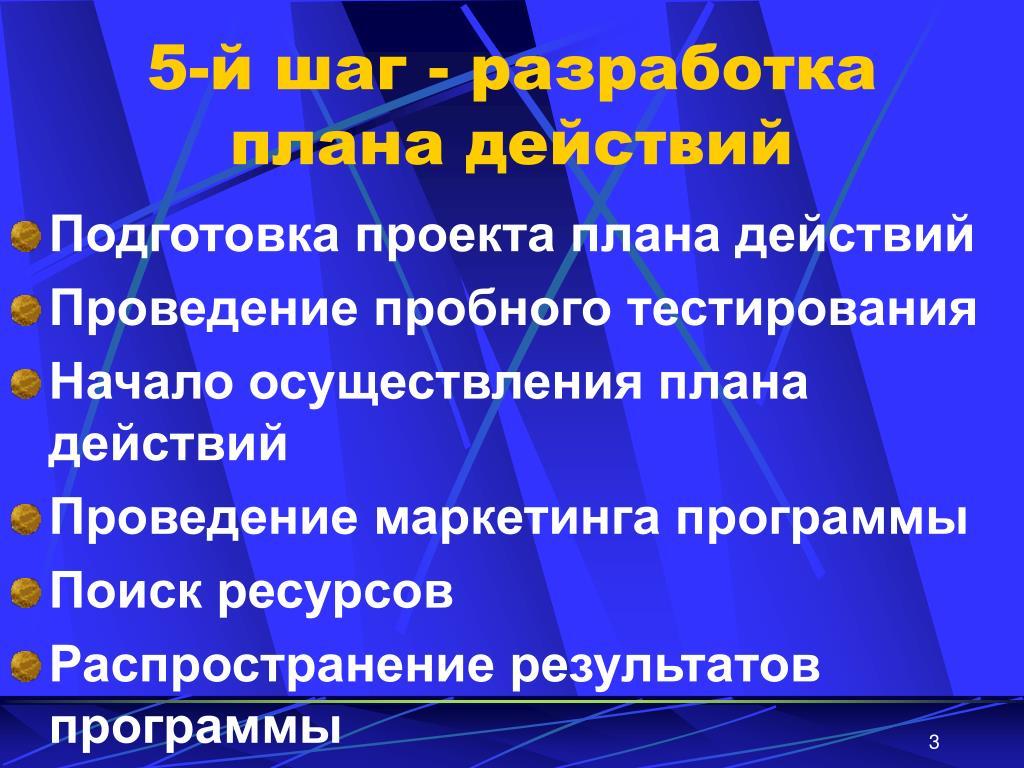 5-й шаг - разработка плана действий