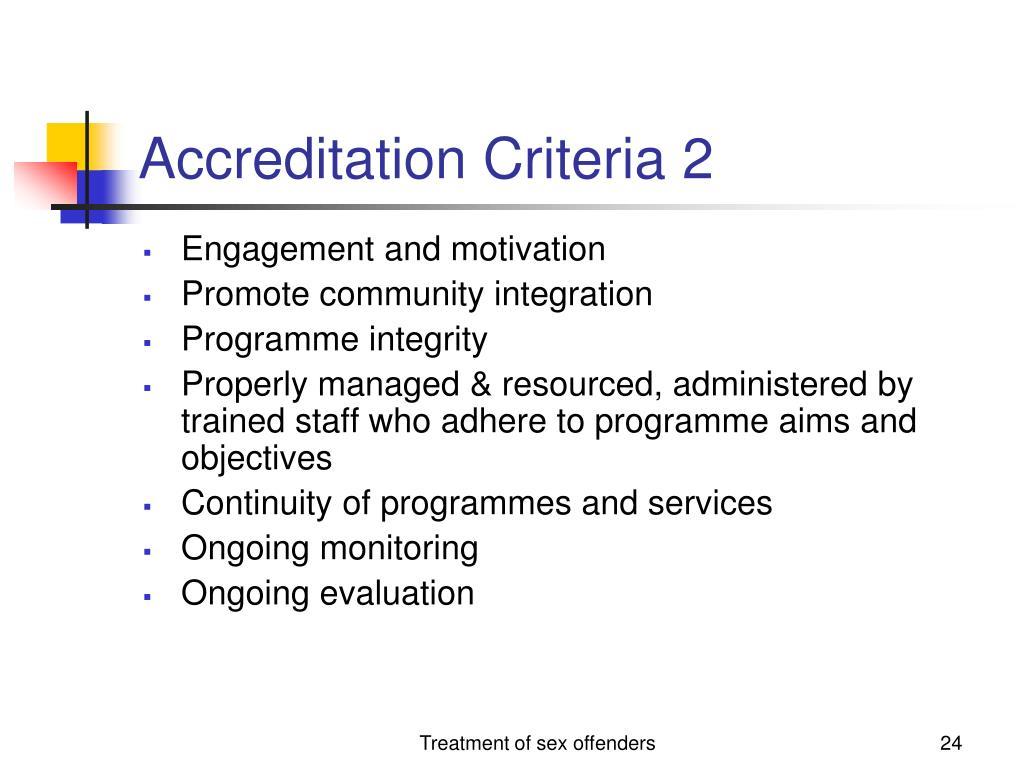 Accreditation Criteria 2