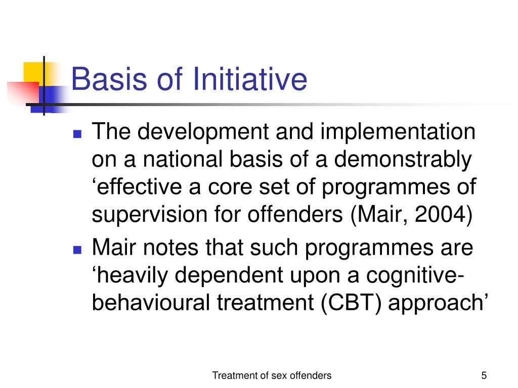 Basis of Initiative