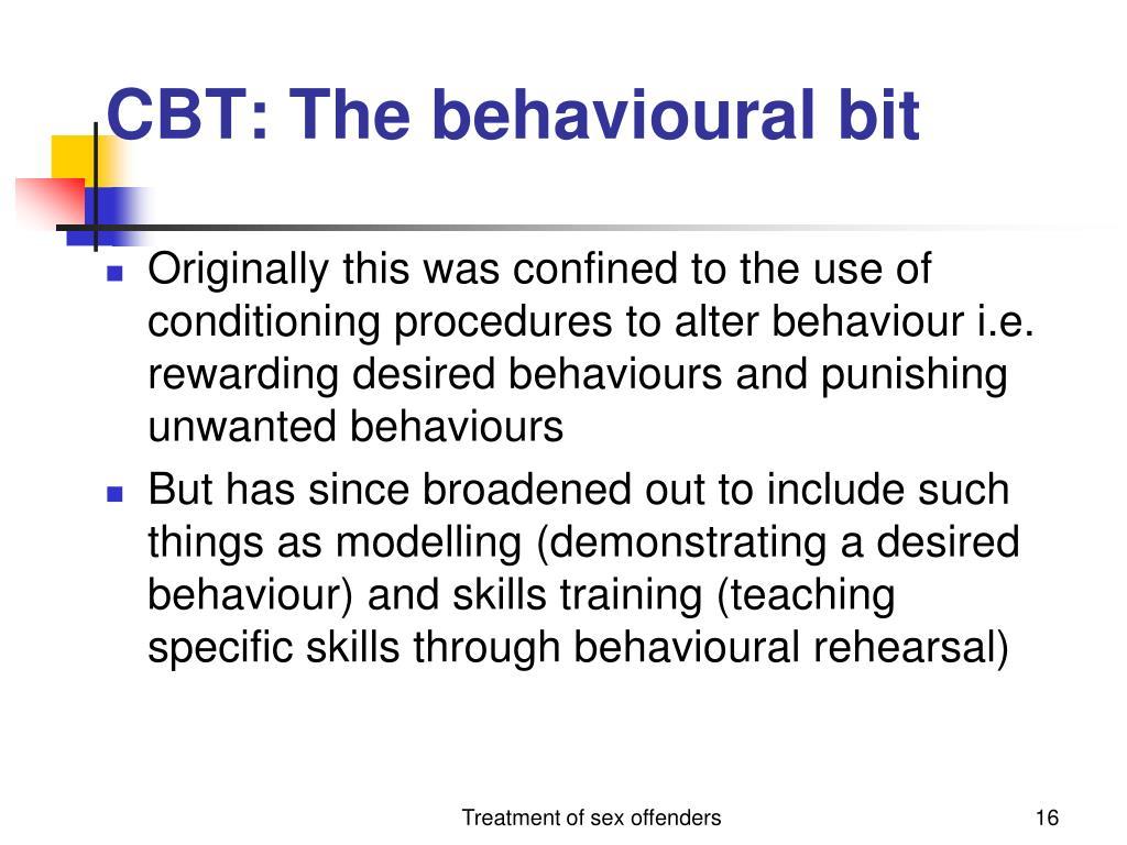 CBT: The behavioural bit