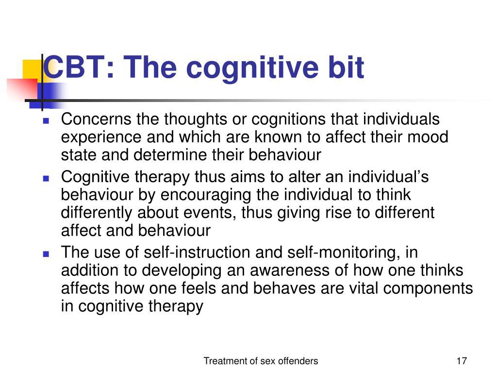 CBT: The cognitive bit