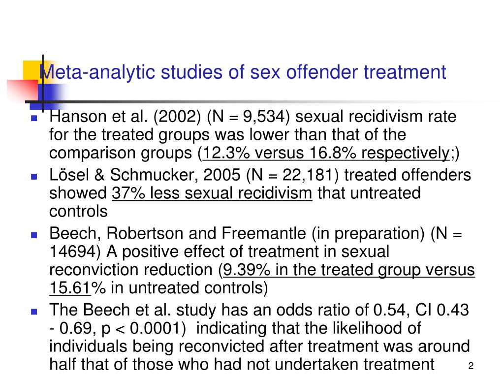 PPT - SEX OFFENDER TREATMENT PROGRAMS
