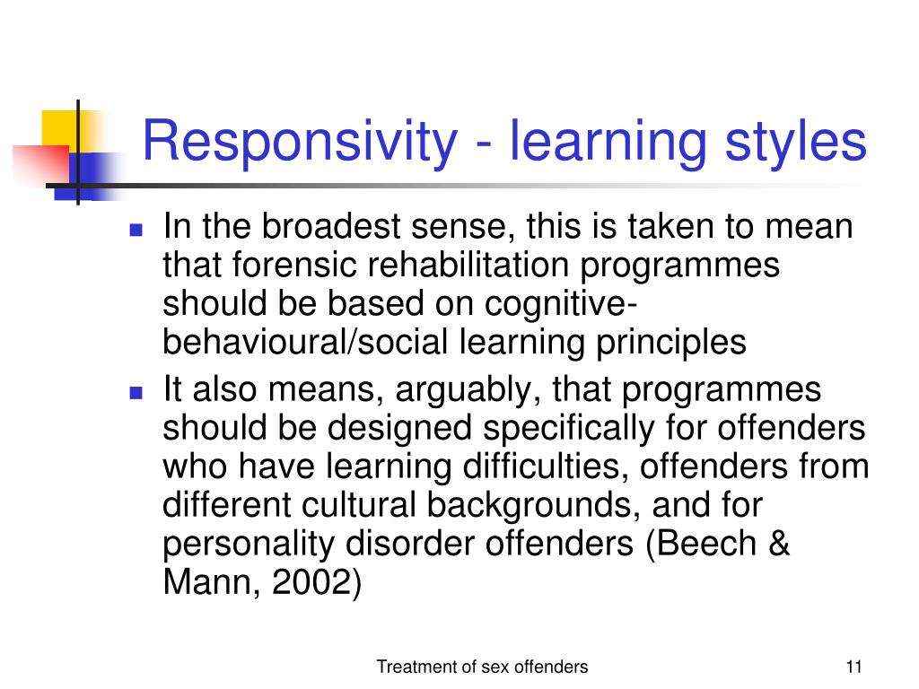 Responsivity - learning styles