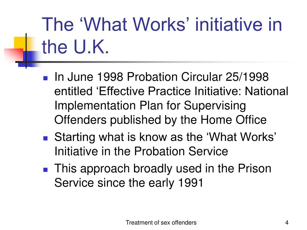 The 'What Works' initiative in the U.K.