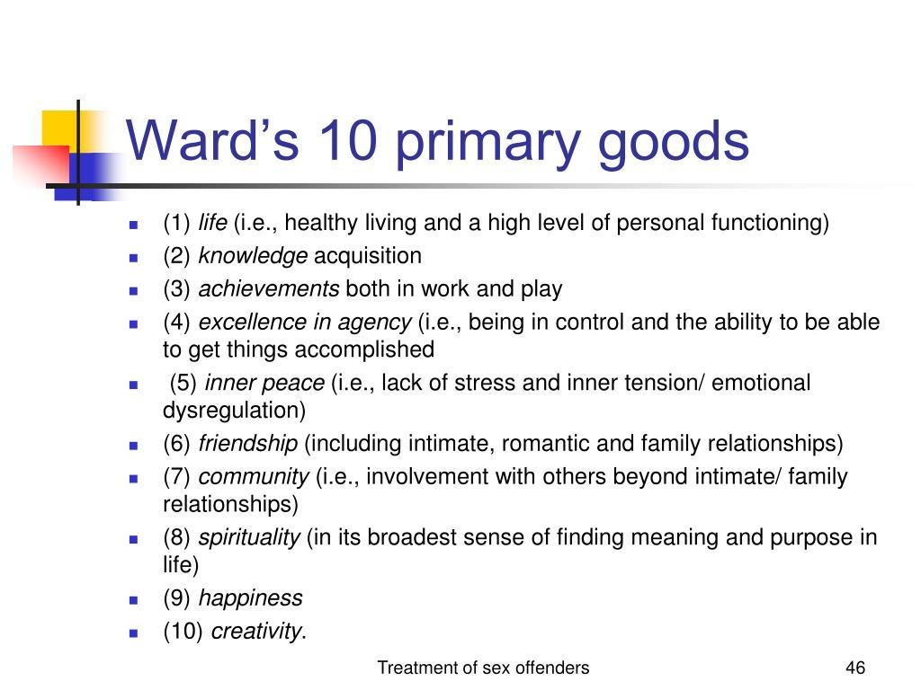 Ward's 10 primary goods