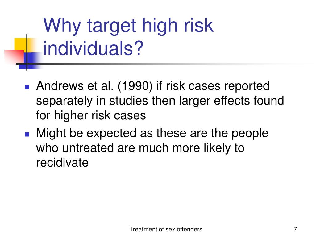 Why target high risk individuals?