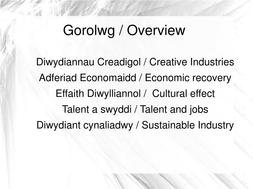 Gorolwg / Overview