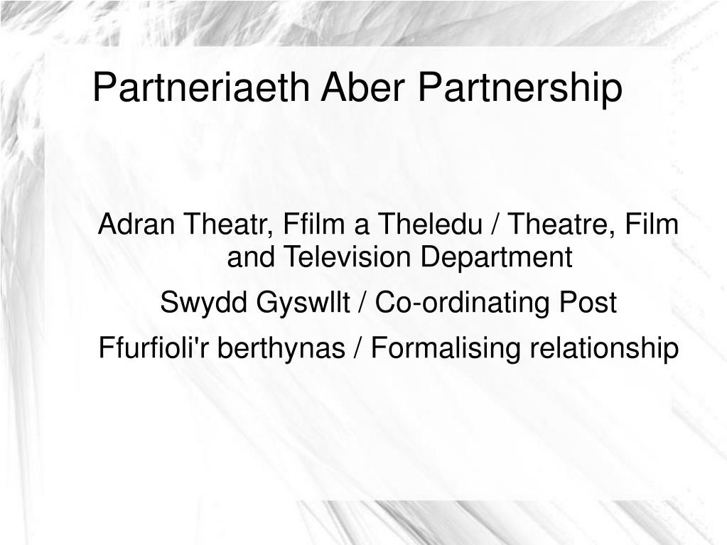 Partneriaeth Aber Partnership