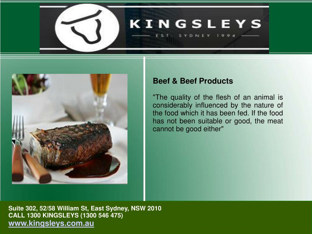 Beef & Beef Products