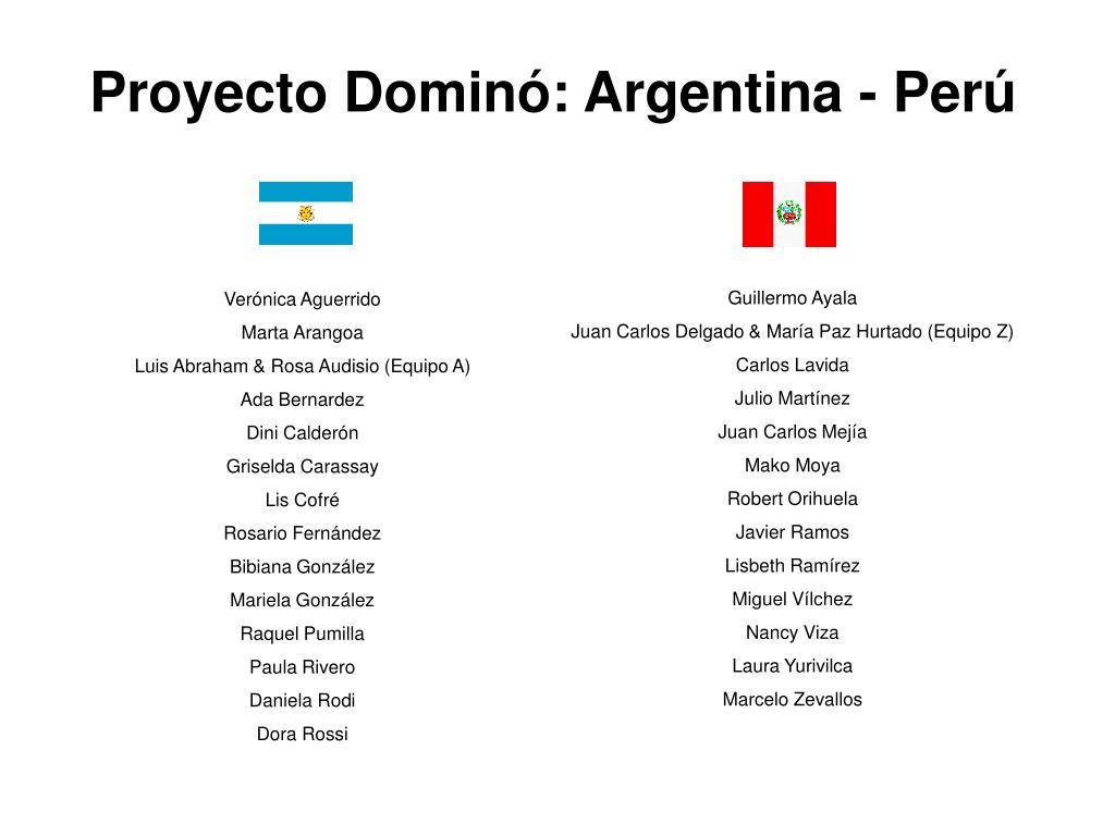 Proyecto Dominó: Argentina - Perú