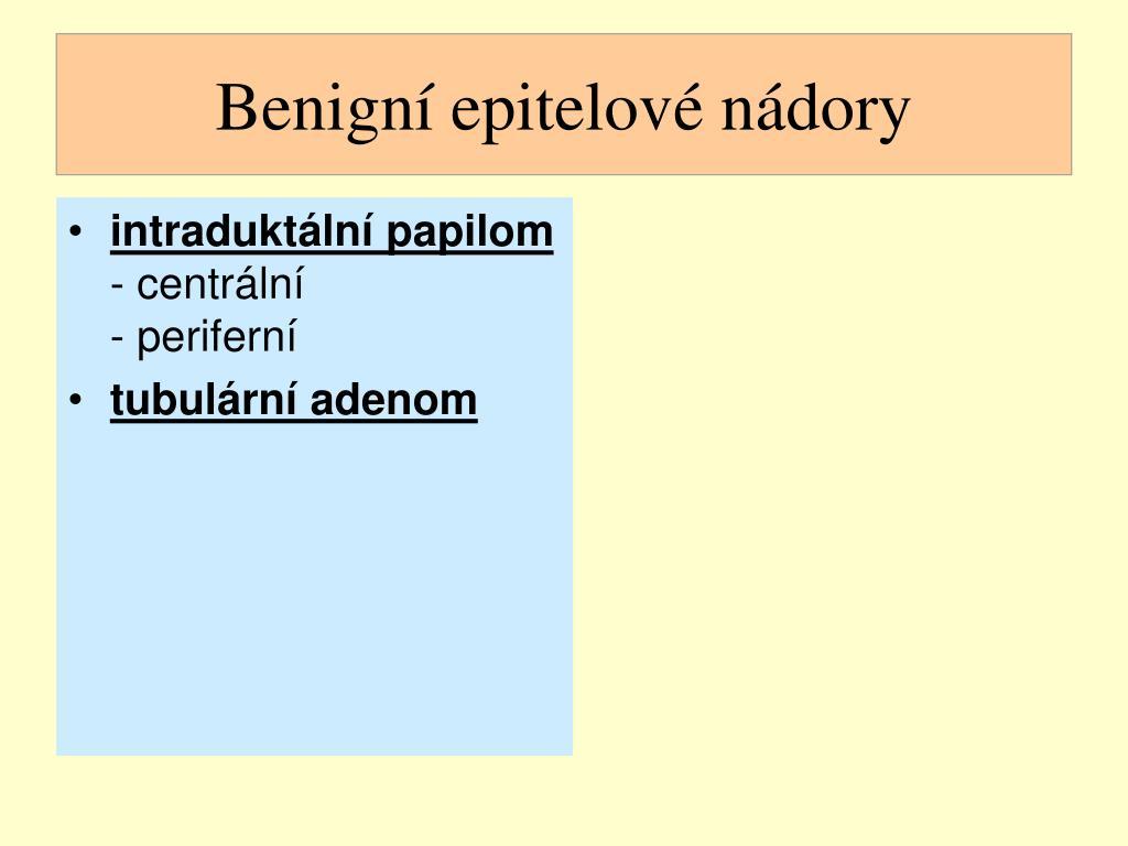 Benigní epitelové nádory