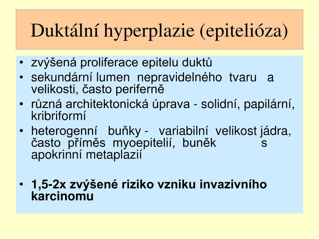 Duktální hyperplazie (epitelióza)