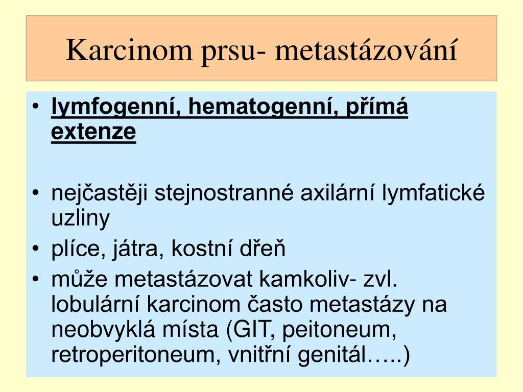 Karcinom prsu- metastázování