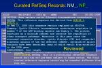 curated refseq records nm np