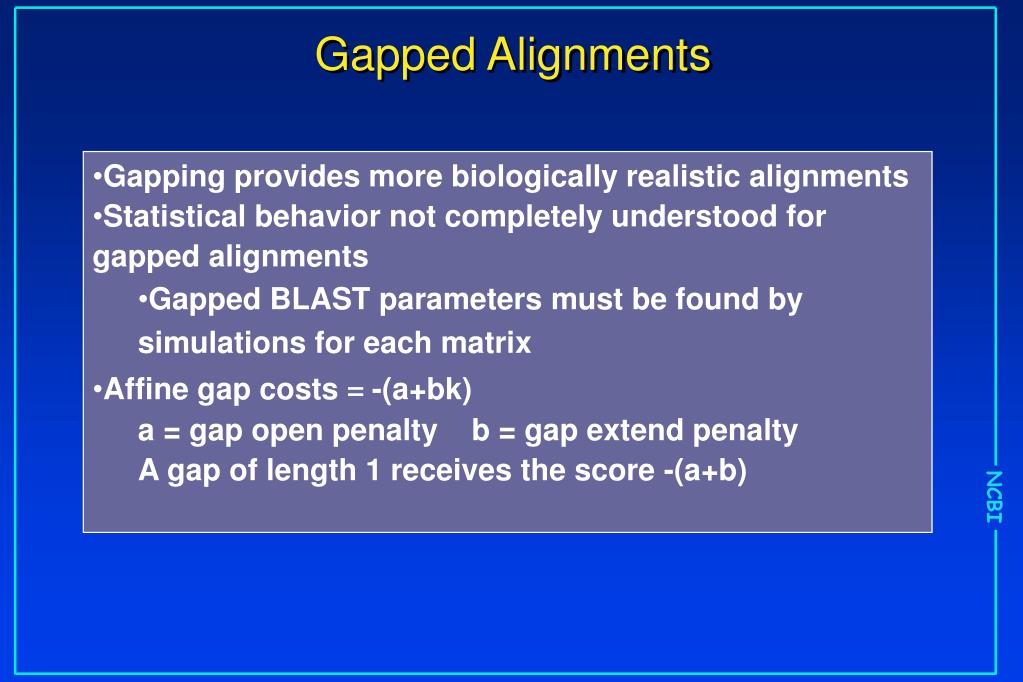 Gapped Alignments