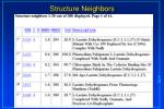 structure neighbors