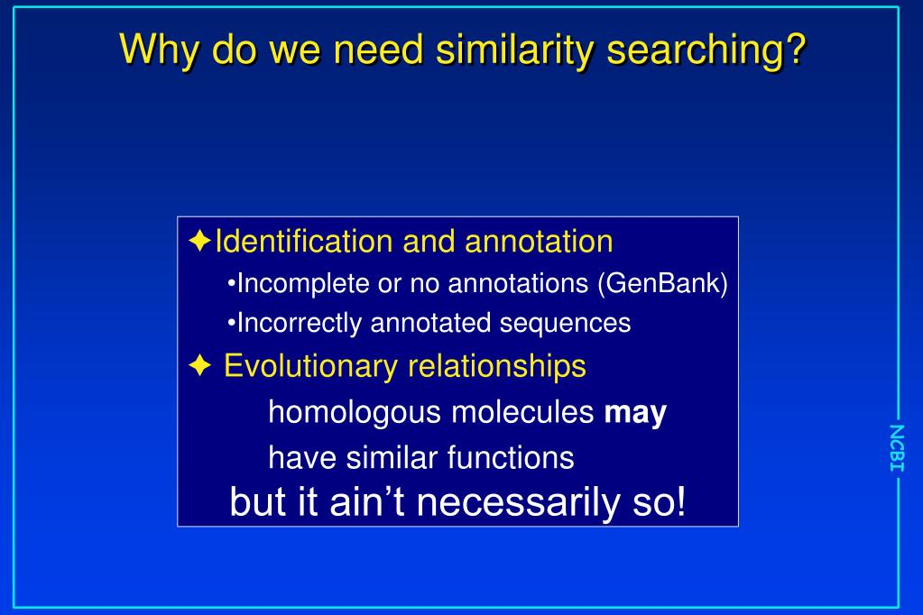 Why do we need similarity searching?