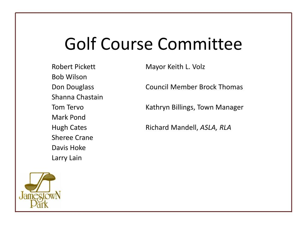 Golf Course Committee