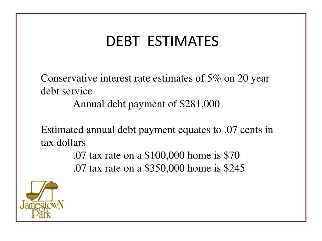 DEBT  ESTIMATES