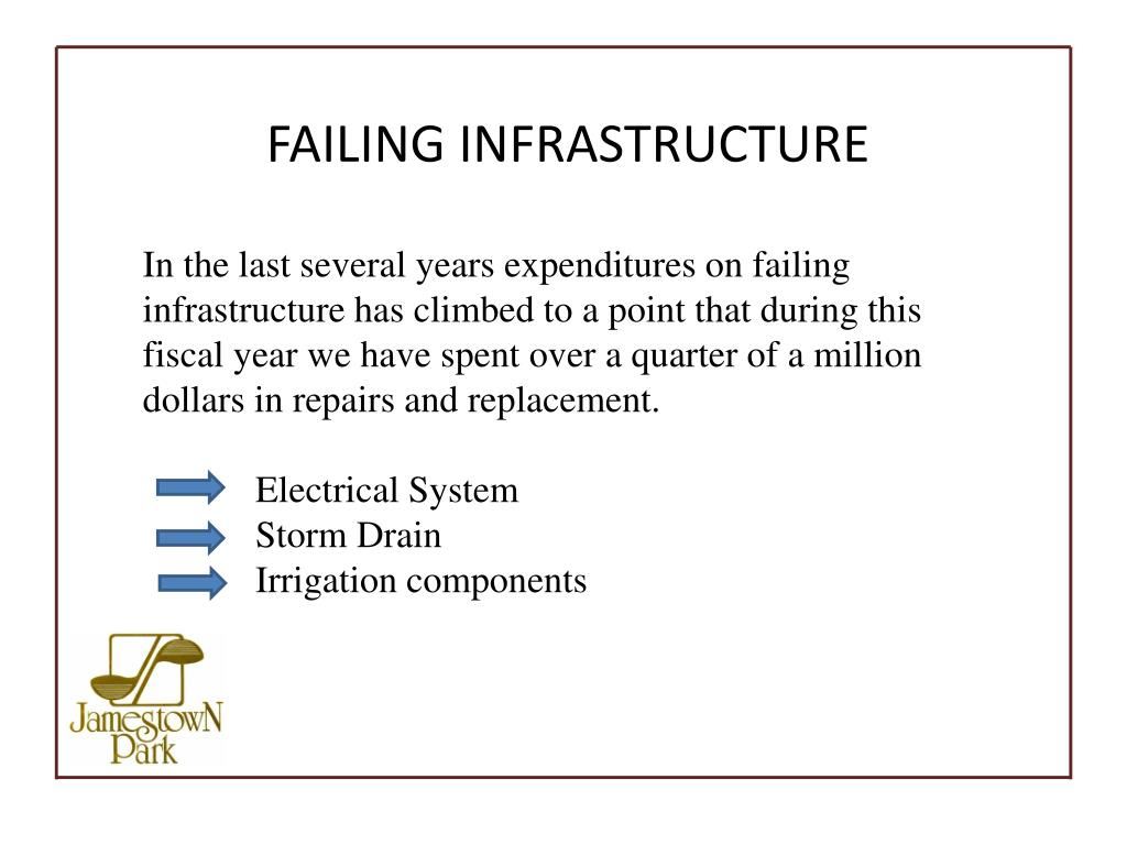FAILING INFRASTRUCTURE
