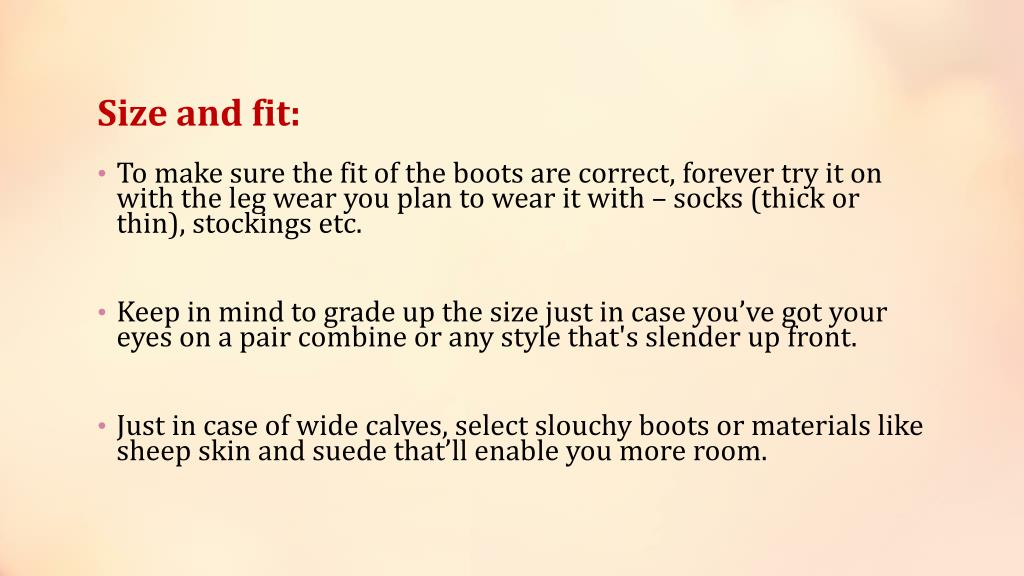 Size and fit: