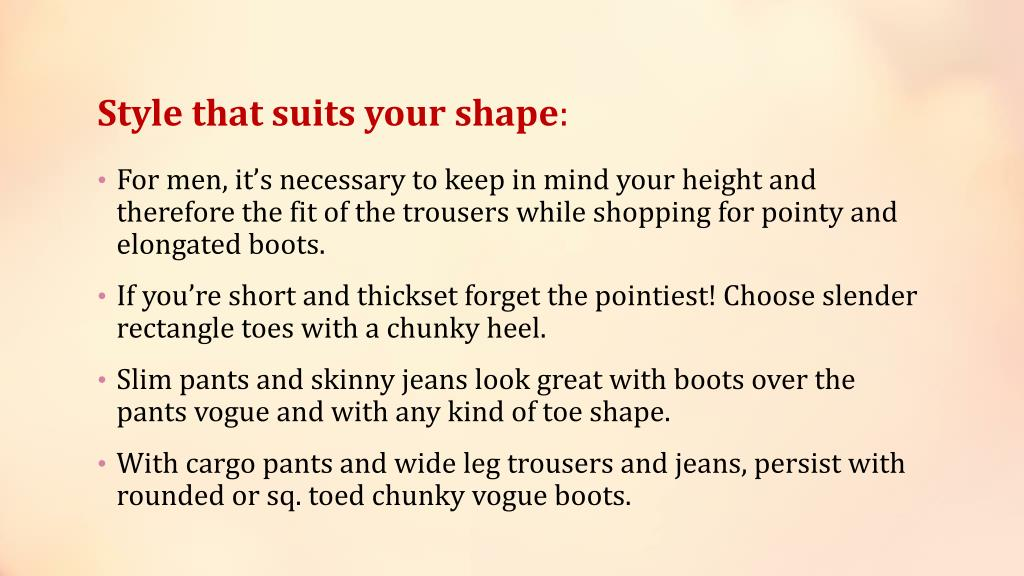 Style that suits your shape