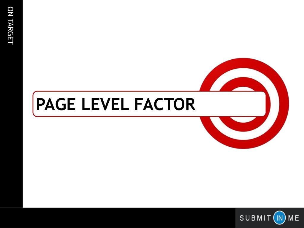 page Level factor