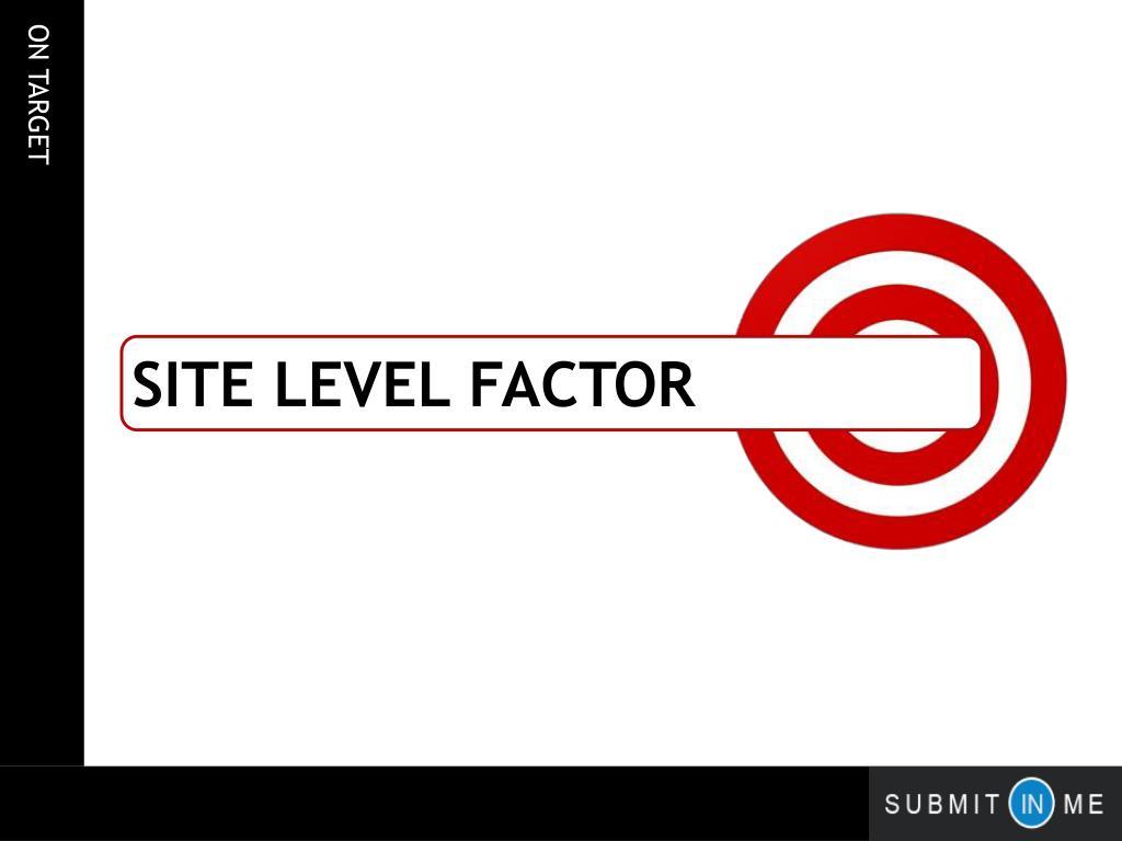 site Level factor