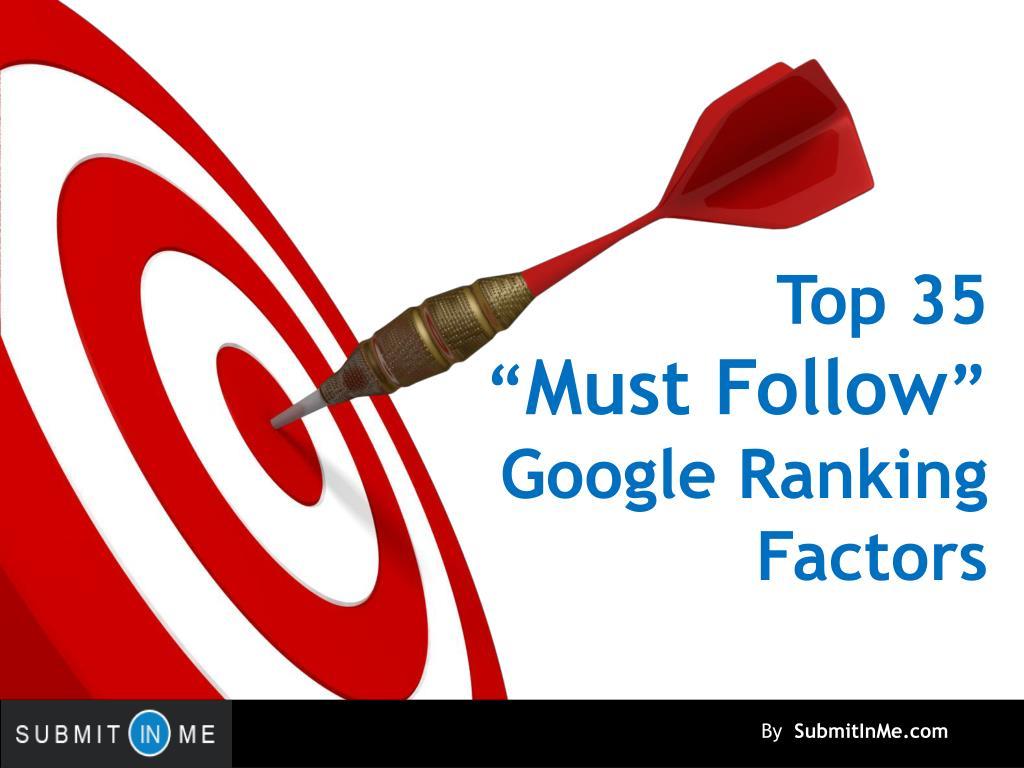 top 35 must follow google ranking factors