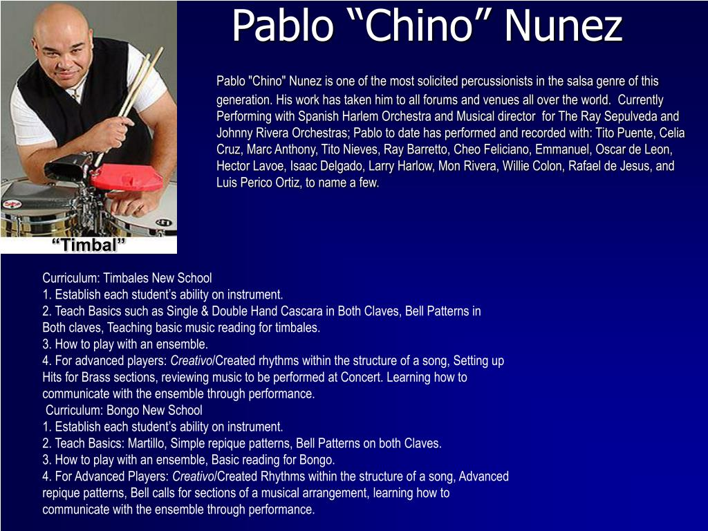 "Pablo ""Chino"" Nunez"