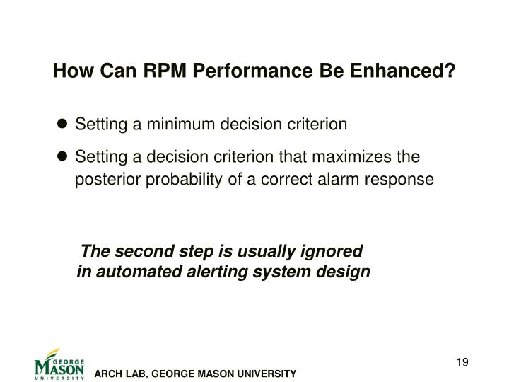 How Can RPM Performance Be Enhanced?