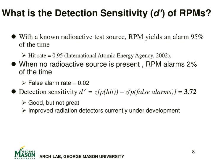 What is the Detection Sensitivity (