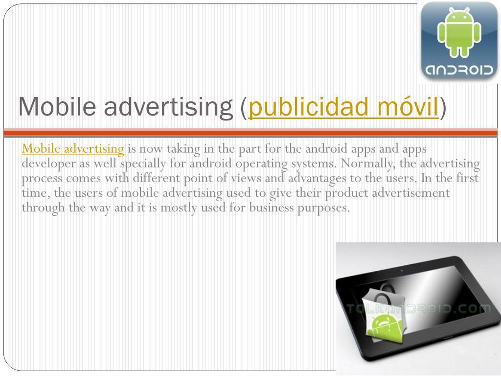Mobile advertising (