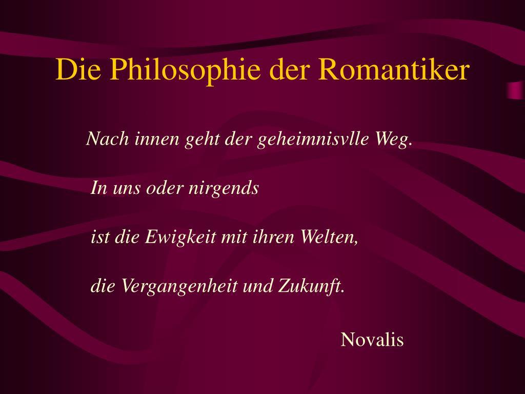 Romantik Philosophie