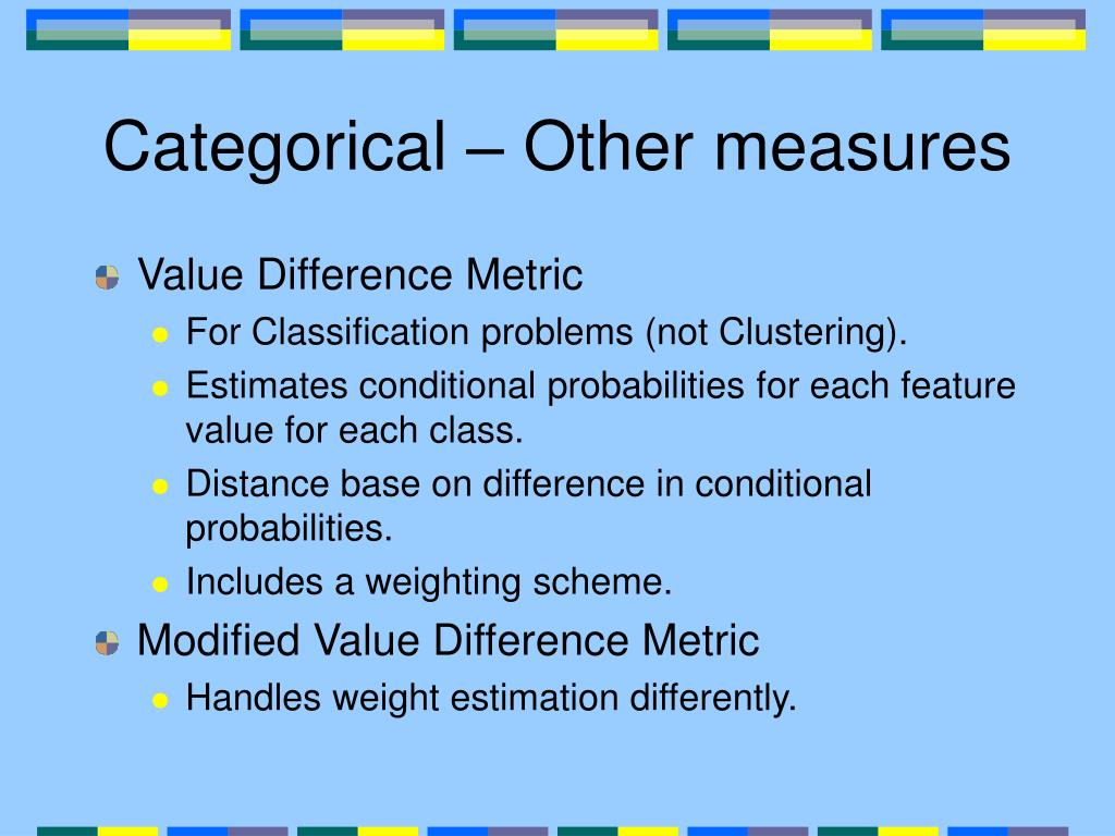 Categorical – Other measures