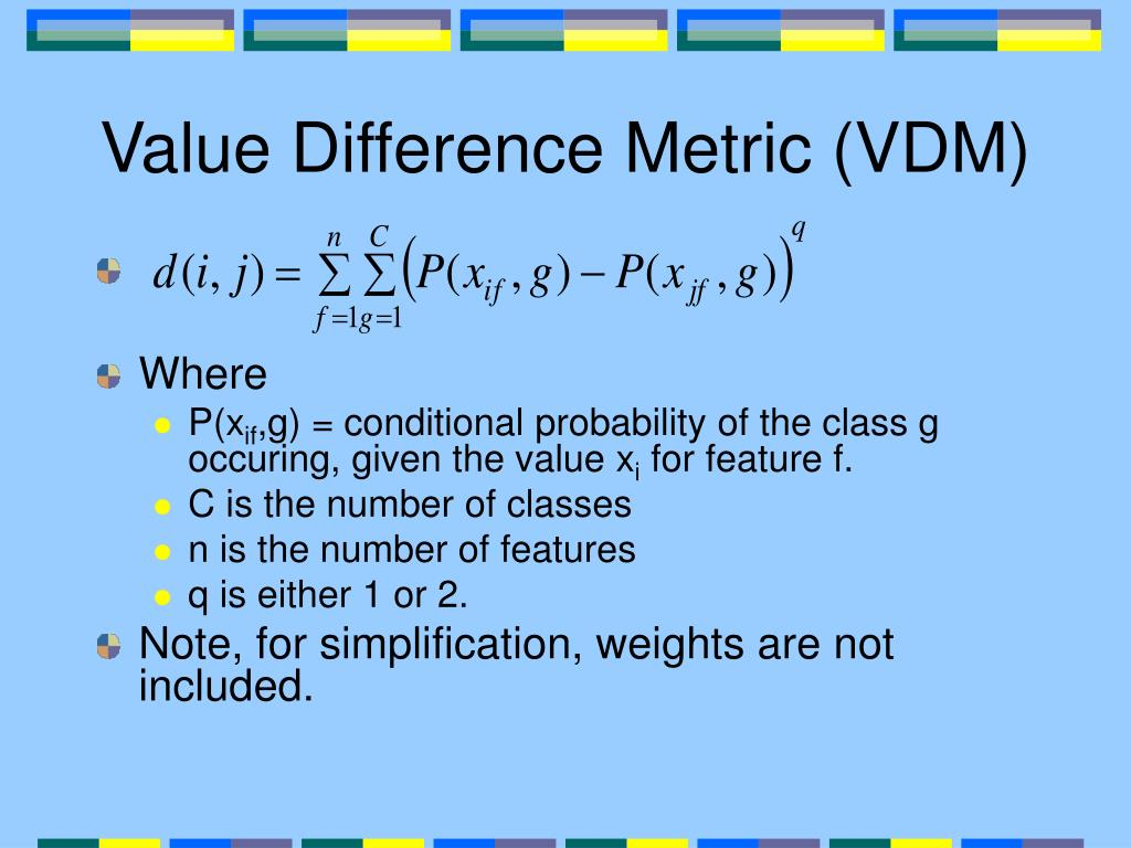 Value Difference Metric (VDM)