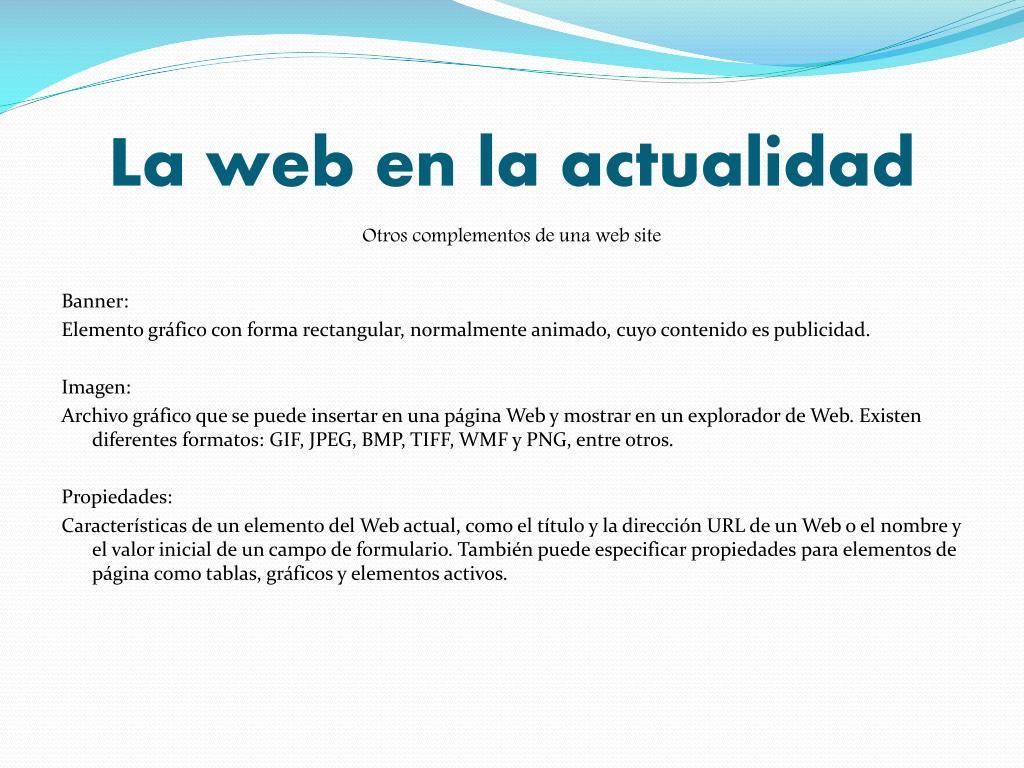 La web en la actualidad