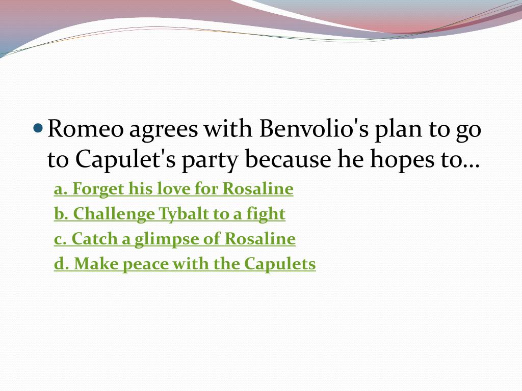 Romeo agrees with
